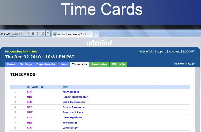 Florida Time Clock - uAttend BN6500 WiFi Biometric uAttend