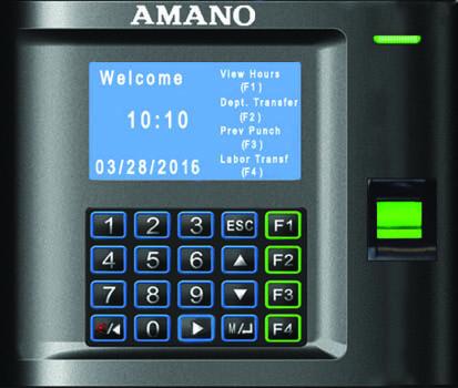 Florida Time Clock - Amano TimeGuardian Biometric Clock MTX-30